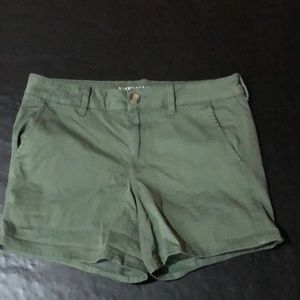 American Eagle green midi shorts